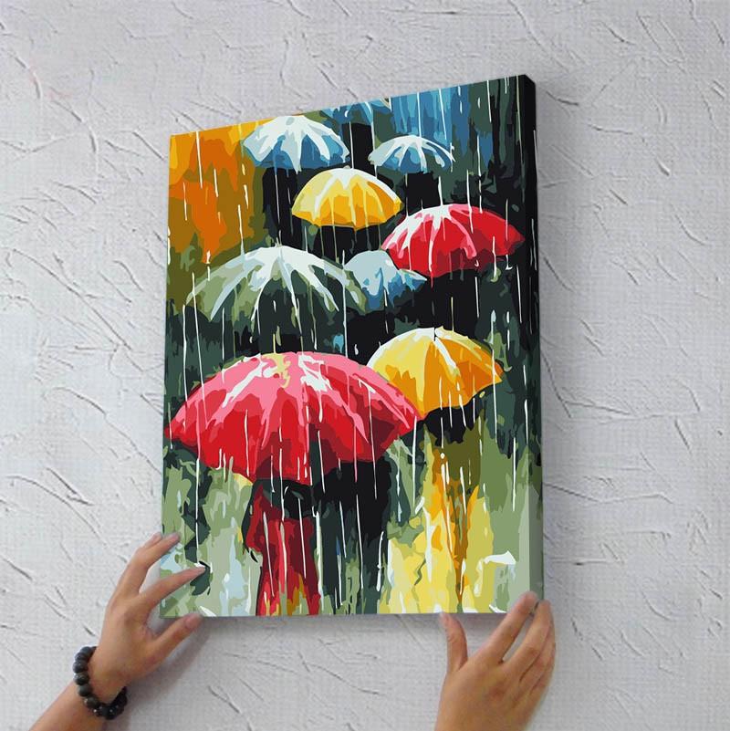 gerahmte gemälde nach zahlen foto diy digitale malerei Öl malen nach ...
