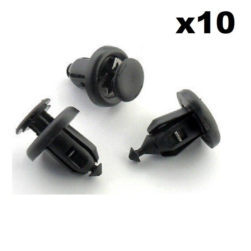 10x For Honda Bumper, Engine Undertray & Wheel Arch Lining, Splashguard Trim Clips