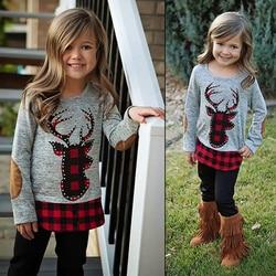 2020 primavera outono crianças roupas da menina esporte terno conjunto manga longa camiseta + calças de páscoa roupas para meninas 2 3 4 5 6 ano