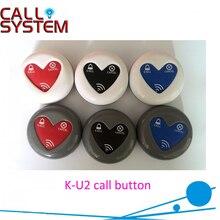 Просто нажмите кнопку, чтобы позвонить для обслуживания; Совершенно ресторан Кафе Отель Беспроводной Гостевая кнопка вызова K-U2