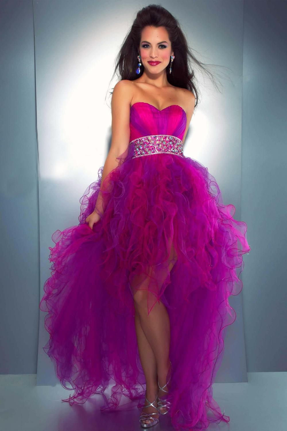 Purple And Pink Prom Dresses - Homecoming Party Dresses