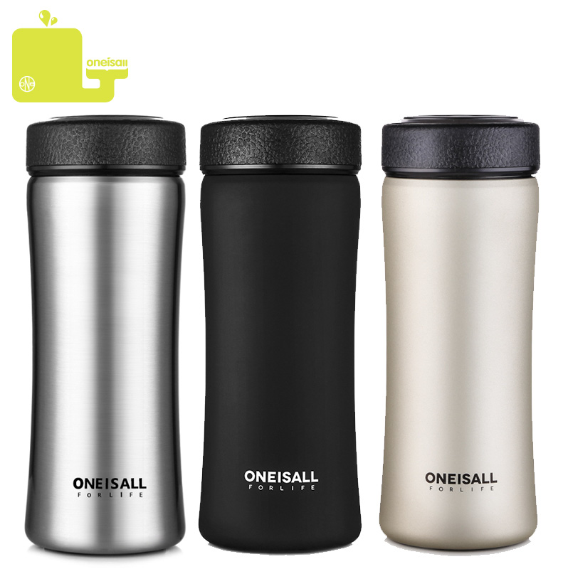 Thermos Bottle 500ML Vacuum Flask 304 Stainless Steel Thermal Mug With Tea Infuser Insulated Thermos Coffee Cup Mugs Car