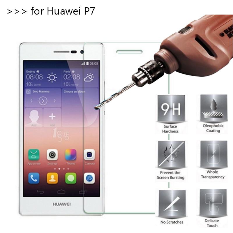 2.5D 0.26 мм 9 H Премиум Закаленное стекло для Huawei Ascend P7 экран протектор Закаленное Защитная пленка для Huawei P7 стекло *