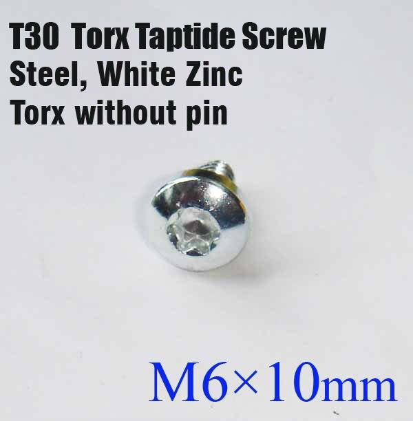 T30 torx taptite , Trilobular M6 * 10 ,  100