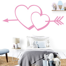 NEW Heart Waterproof Wall Stickers Home Decor For Living Room Kids Rooms
