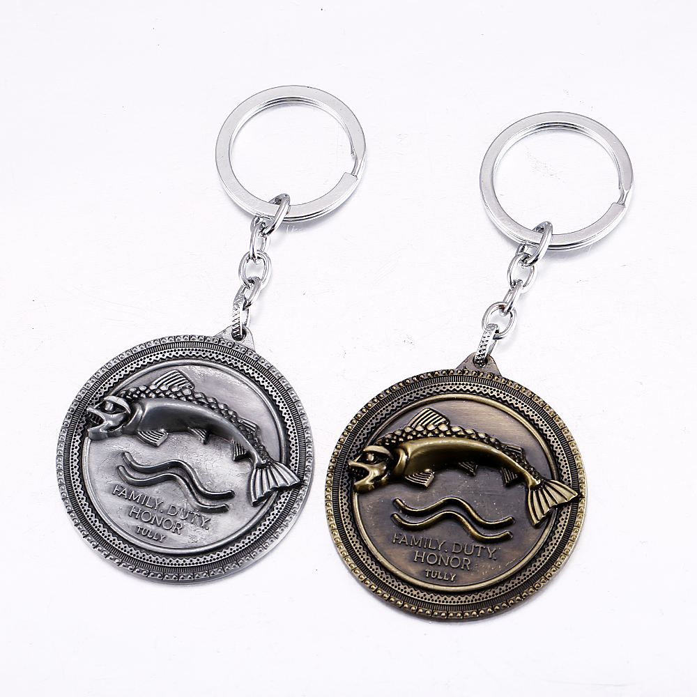 MS JEWELS Game of Thrones Key Chain House Tully Logo Metal Key Rings For Gifts 2 Colors Keychain Chaveiro