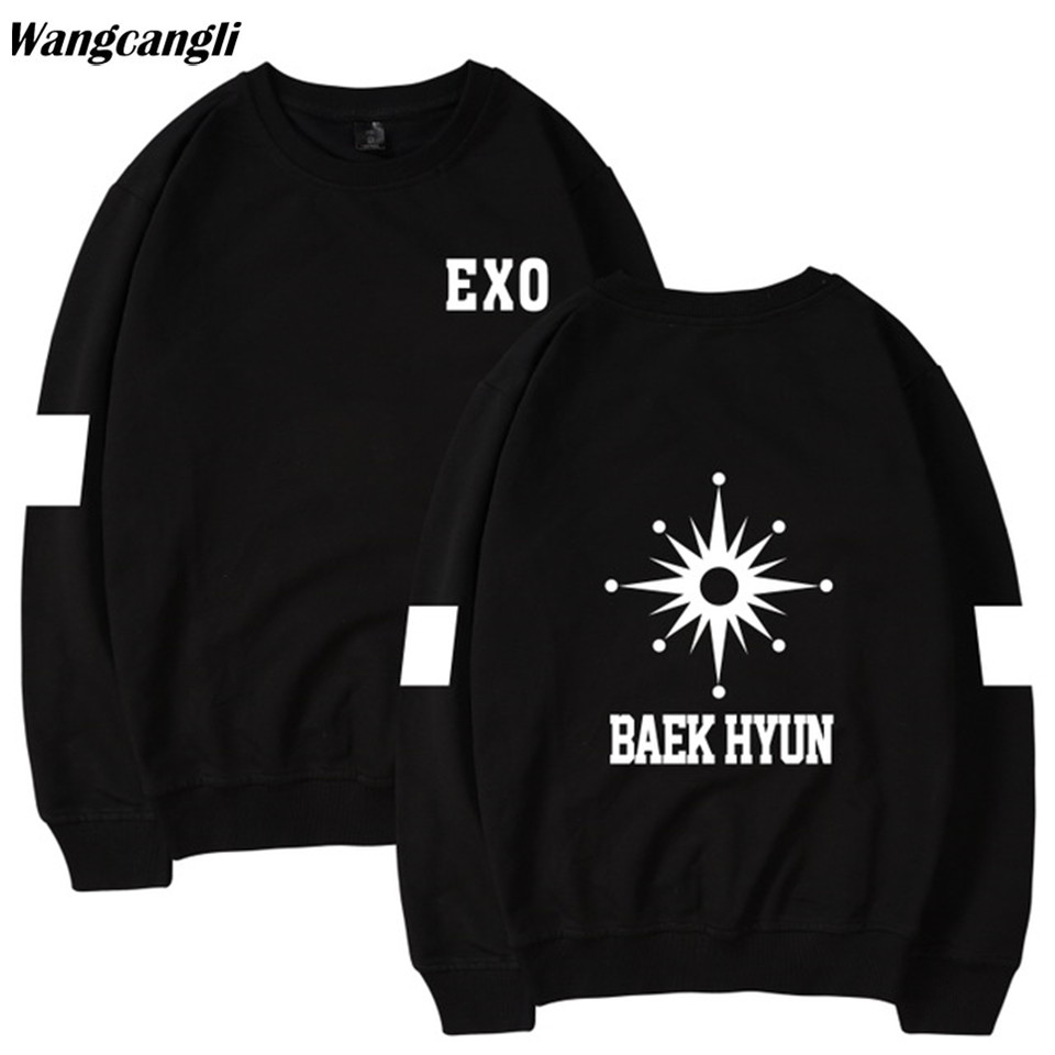 2018 exo Fashion Kpop Hoodie sweatshirts women and Korean harajuku Fitness Pullover sweatshirt Hoodies women Men Winter Coat