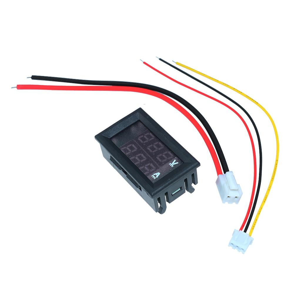 DC 0 100V 10A 50A 100A Electronic Digital Voltmeter Ammeter 0 56 LED Display Voltage Regulator DC 0-100V 10A 50A 100A Electronic Digital Voltmeter Ammeter 0.56'' LED Display Voltage Regulator Volt AMP Current Meter Tester
