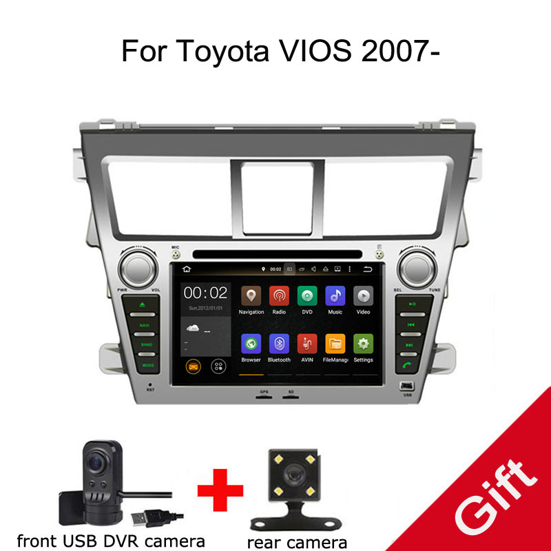 Android 8.0 PX5 Octa Core For Toyota VIOS 2007- Car DVD Multimedia player GPS Navigation Autoradio dvd player