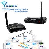 Superior Quality 5.8GHz 300M HDMI 1080P in AV Sender TV Wireless Transmitter Receiver Audio Video Free Shipping NOM18