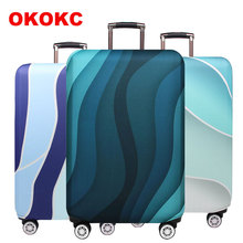 Travel Luggage Suitcase Protective Cover Trolley Baggage Bag  Thick Elastic Case For