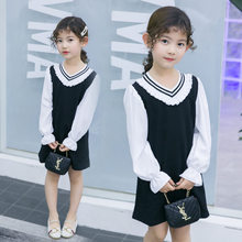 Get more info on the Kids Summer Puff Sleeve Dress Princess Sailor Style Collar Puff Sleeve White Dress For Girls Preppy Cotton Clothes Age 4-13 Y