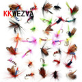 KKWEZVA 36pcs Fishing Lure Butter fly Insects different Style Salmon Flies Trout Single Dry Fly Fishing Lures Fishing Tackle