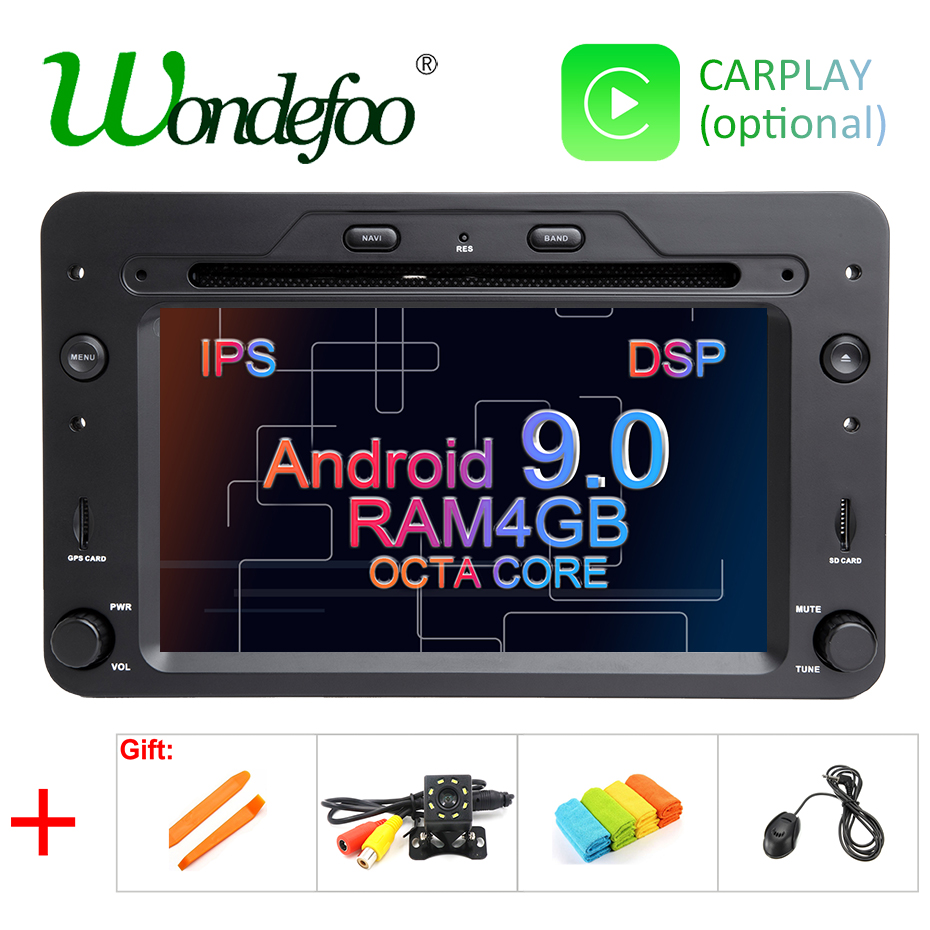 DSP 4G Android 9.0 Car DVD PLAYER For Alfa Romeo Spider
