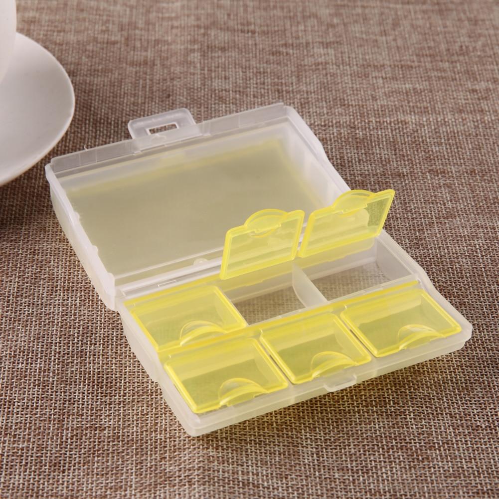 Portabel Slot Seal Folding Pil Case Perhiasan Permen Penyimpanan Alat Pemotong Tablet Tempat Simpan Obat 1 Pc Kotak 2 Lapisan Portable7 Segel Lipat Vitamin Medicine