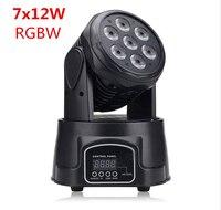 America CREE LED led wash mini moving head light 7x12w rgbw 4in1 leds advanced DMX 9/14 channels dj band lights