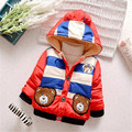 Winter Baby Snow Wear Baby boy Clothing Cute Cartoon bear pattern Hooded Outerwear & Coats  for 0-2 years old