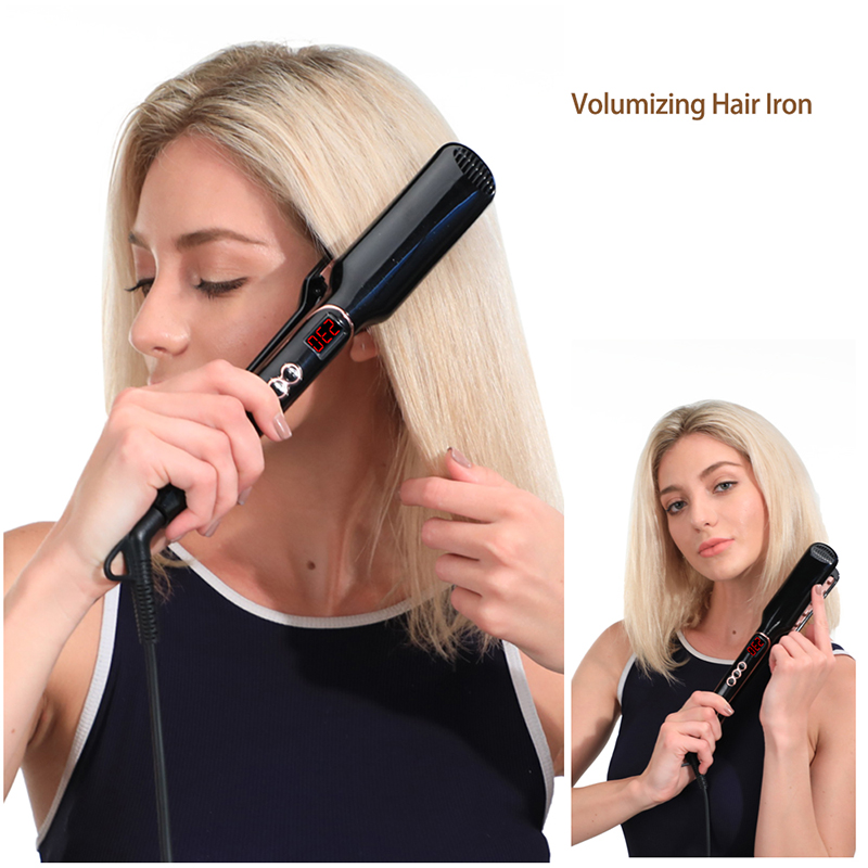 Hair Iron Hair Straightener Brush Comb 2 in 1 Hair Straightener