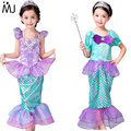 Children Baby Girl Clothes Little Mermaid Fancy Kids Girls Mermaid Dresses Princess Ariel Cosplay Halloween Costume mermaid-tail