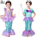 Children Baby Girl Clothes Little Mermaid Fancy Kids Girls Mermaid Dresses Princess Ariel Cosplay Halloween Costume mermaid-tail