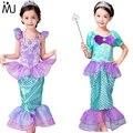 Niños Ropa de Bebé Niña Fantasía Niñas Niños Vestidos de Sirena Princesa Ariel Sirenita Cosplay Disfraces de Halloween de la sirena de cola