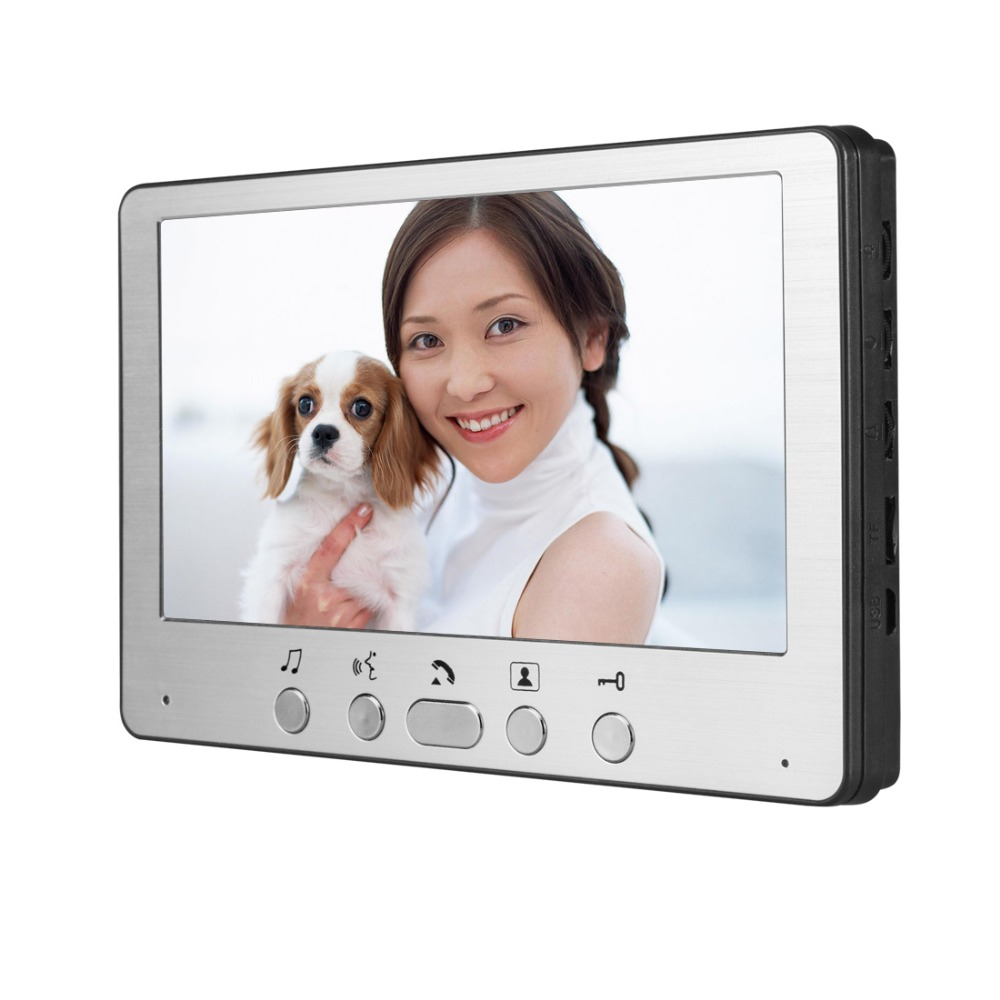 Купить с кэшбэком Yobang Security Freeship 7 Inch Video Door Phone  Video Monitoring Intercom Doorbell Night Vision Waterproof Outdoor Camera
