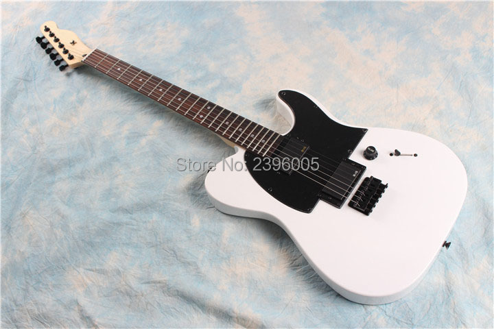 Hot sale tele guitar,flat white AS jim root tl guitar,white telecast guitar,locking knobs.real guitar pictures.high quality hot sale top quality white lp custom guitar with golden hardware electric guitar free shipping white color
