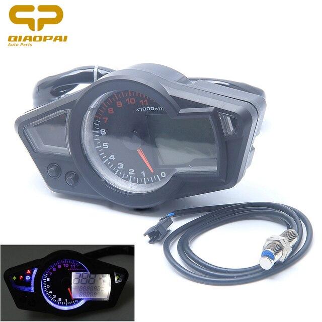 motor tahan air lcd digital speedometer 11000 rpm dc 12 v takometer