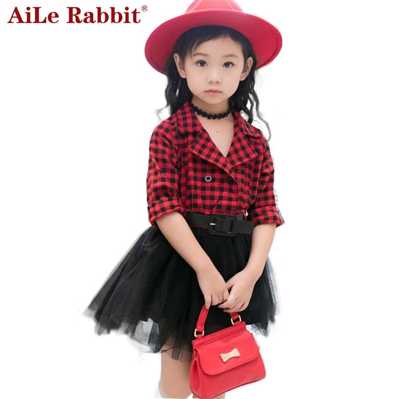 AiLe Rabbit 2017 Girls Tutu font b Dresses b font Spring Autumn Full Sleeve Children s