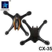Cheerson CX-35 RC Quadcopter Drone De Rechange Pièces CX-35 Corps Supérieur et Inférieur Couverture Shell Cadre Kit Orange Pour CX35 Drone