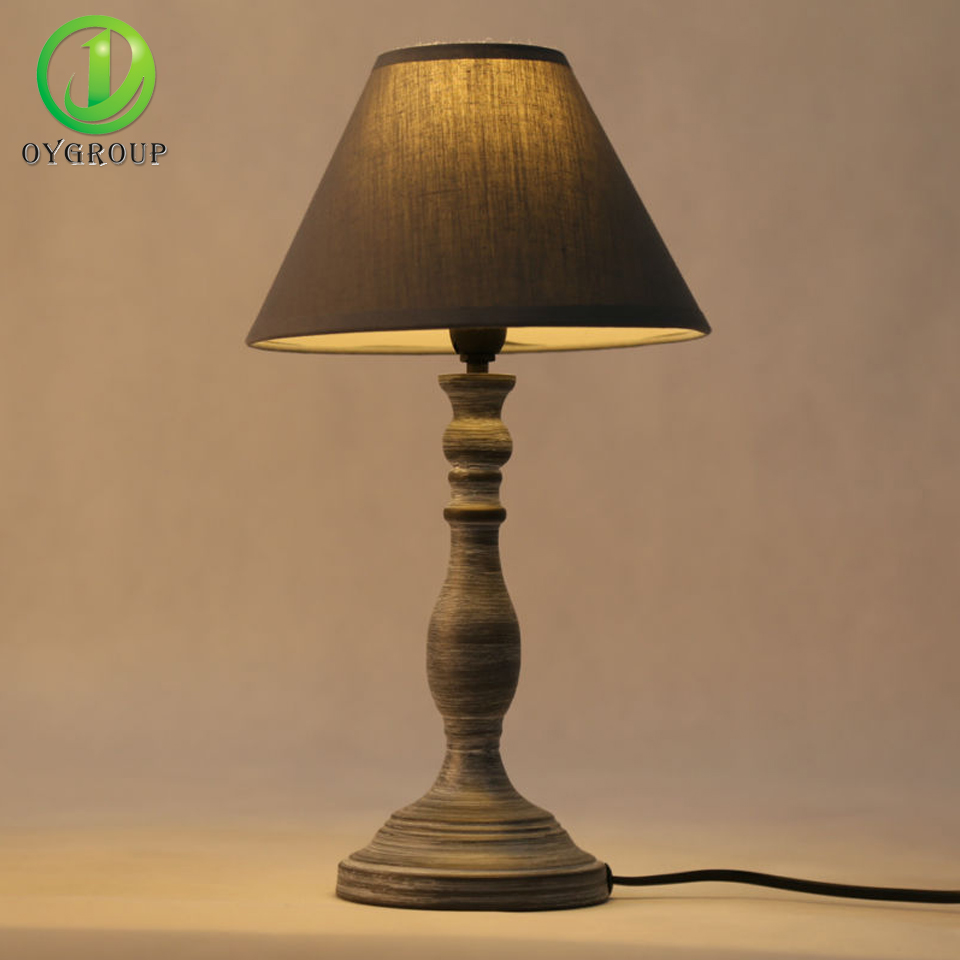 Modern Simple LED Table Lamp Good Working High Quality Decoration Lampshade  Lamps Iron Base E14 Bedroom