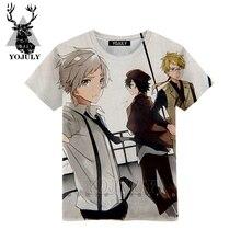 YOJULY Wenhao/футболка с 3d принтом «Дикая собака» для мальчиков и девочек-подростков, модные детские футболки с короткими рукавами, топы, детская одежда, лето, A97