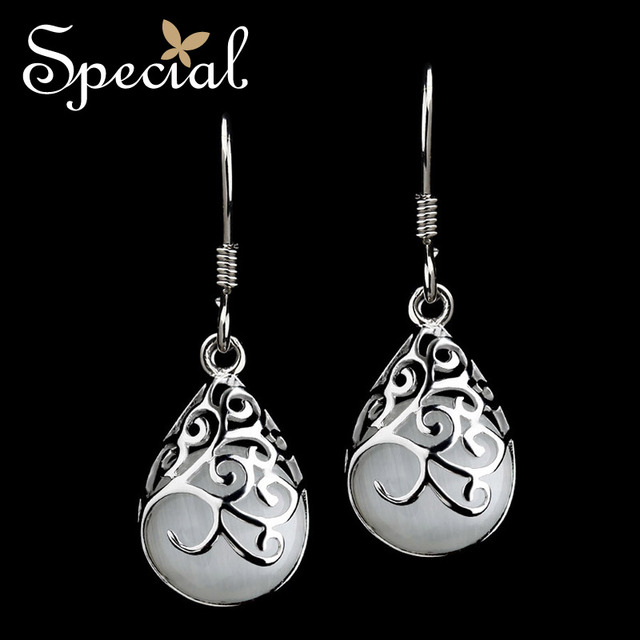 Special New Fashion 925-Sterling-Silver Dangle Earrings Opal Tear Drop Earrings Fashion Jewelry Gifts for Women  EH13A10061