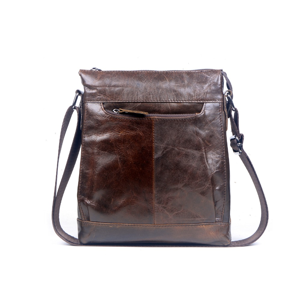 New fashion famous brand design men's messenger bags natural genuine leather men shoulder bag vintage travel bag crossbody bag luxury famous brand women handbag natural genuine leather bag vintage fashion shoulder messenger bags with three layers design