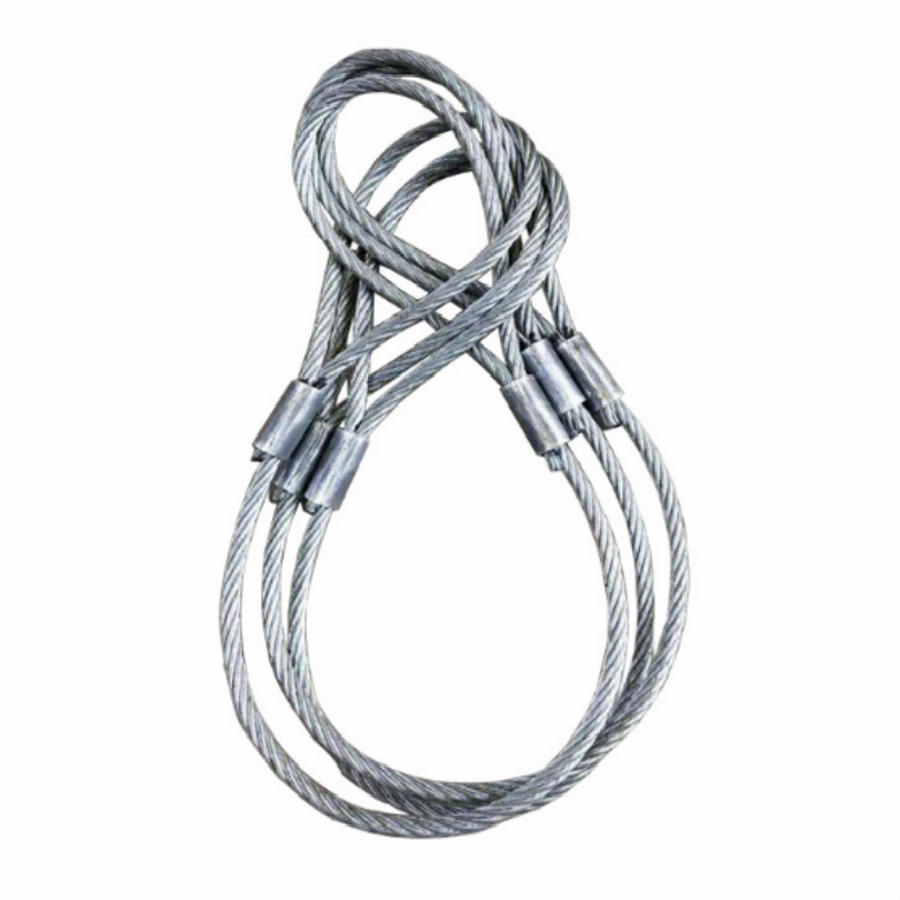 Lifting Sling Diameter 10mm Stretch Length 1 Meter With Ring Steel Wire Rope Sling Free Shipping