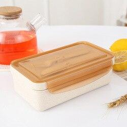 Palha de Trigo TUUTH Aquecimento por Microondas Lancheira Projeto Divisória Móvel Portátil Lunch Box for Kids Picnic Escola Recipiente de Alimento