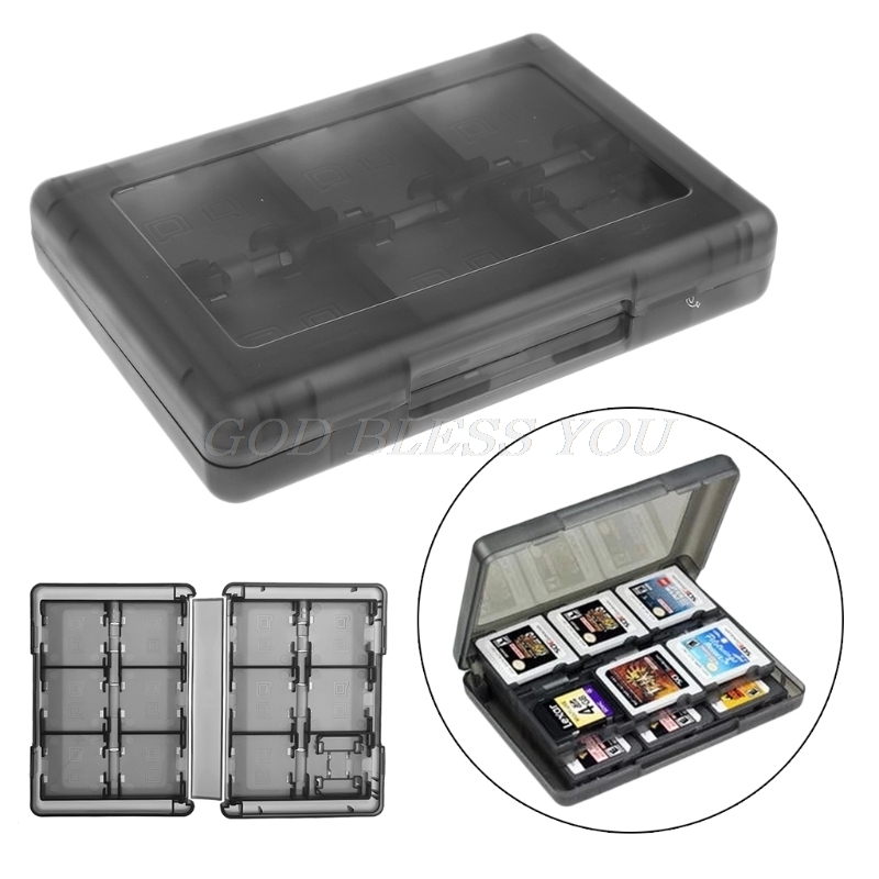 28-In-1 Black Game Card Case Holder Cartridge Storage Box For Nintendo DS 3DS