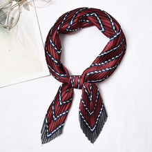 Square Crinkle Silk Neck Scarf for Women