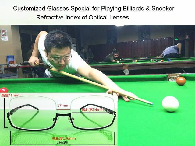 f62d4d681b Free Shipping 136 41mm 4 Types R.I. Lense Customized Nearsighted Glasses  Snooker   Billiard Light Comfortable Fill Prescription