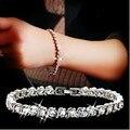 Novo 2016 amantes da moda de cristal de zircão pulseira feminina 925 prata ladies'bracelets jóias atacado presente de aniversário