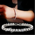 Nuevo 2016 de cristal de circón pulsera de amantes de la moda femenina joyería de plata de ley 925 'al por mayor regalo de cumpleaños