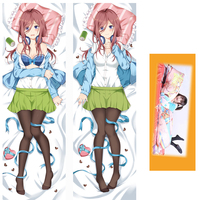 Anime The Quintessential Quintuplets Nakano Miku Hugging Body Dakimakura Pillow Case Cover 59 ( Only pillowcase ) Cosplay Gift
