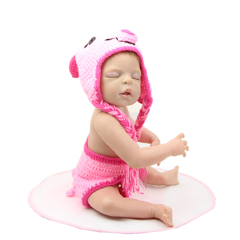22 Realistic Doll Reborn Collectible Lifelike Girl Babies Full Body Silicone Vinyl Newborn Baby Kids Christmas