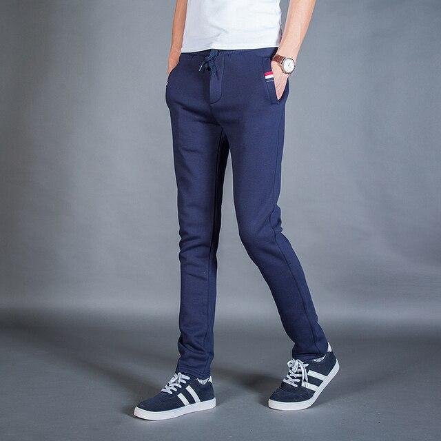 Fashion 2016 Men's Pants men  Trousers navy blue / black / gray  Asian Size:M~5XL