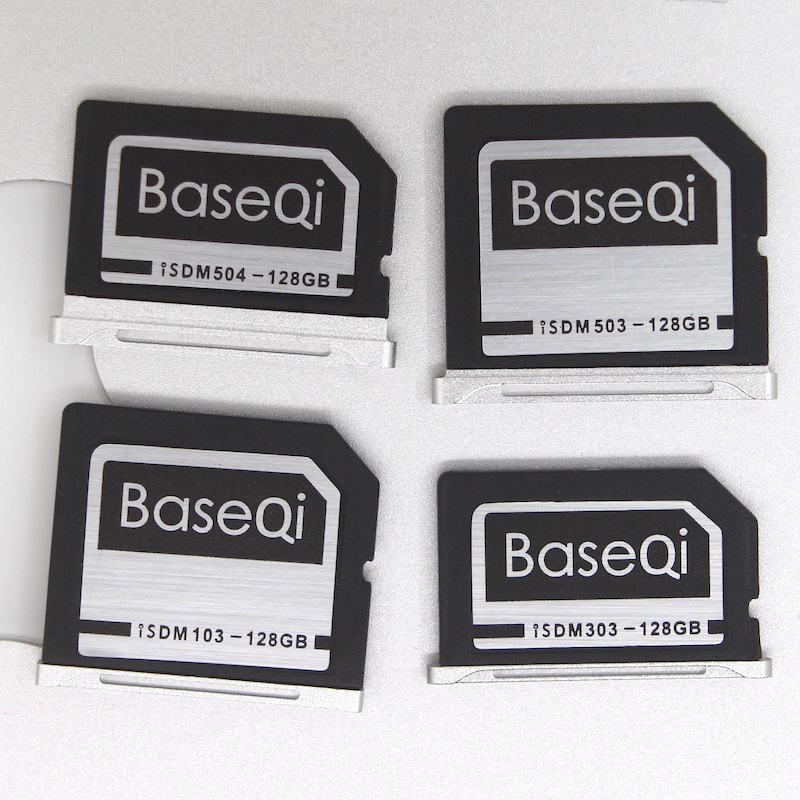 BASEQI Aluminum 128GB Storage Expansion Card for MacBook Air 13 and MacBook Pro 13/15 (Non-Retina) transcend jetdrive lite 330 storage expansion memory sd card for macbook pro retina 13 64gb