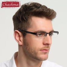 Chashma Men Eyewear Quality Half Rimmed Stainless Frame TR 90 Arms Optical Glasses Frame Males Myopia Spectacle Frames