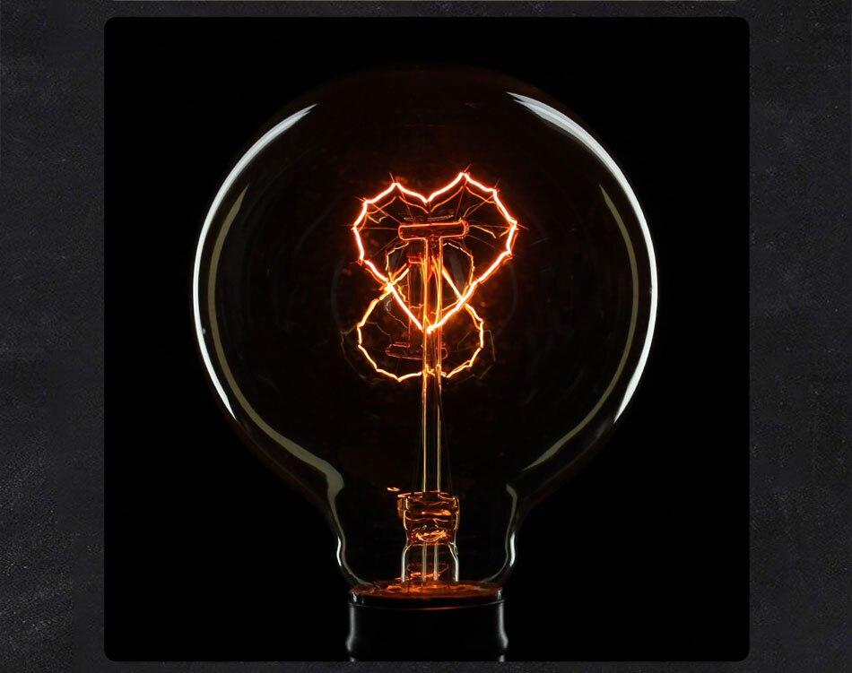 lâmpada de tungstênio lâmpada filamento espiral âmbar edison