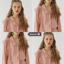 hot deal buy pink dot ruffle women lovely spring loose shirt blouses button long sleeve autumn girl blouses shirts campus style 2018 new