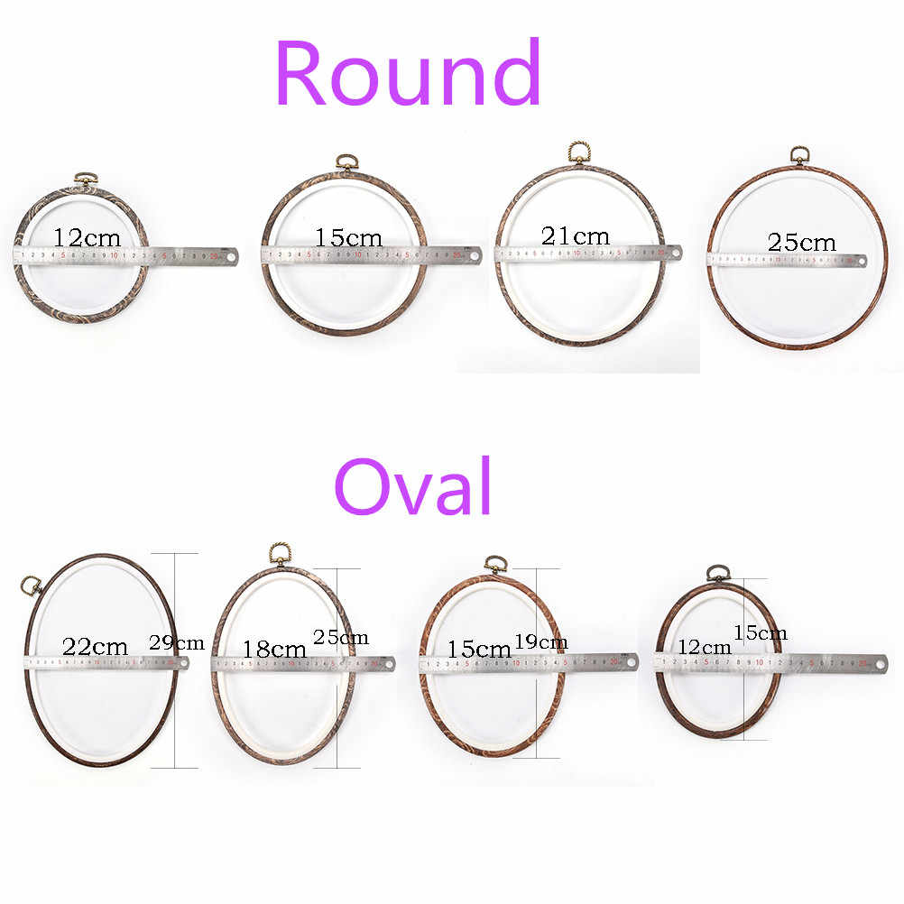 Practical 12-29cm Bamboo Wooden Embroidery Hoop Rings for DIY Cross Stitch Needle Craft Tools Embroidery Hoops Frame Set
