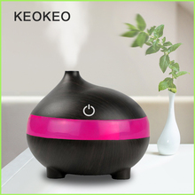 KEOKEO Portable Air Humidifier 300ML USB Aroma Essential Oil Aromatherapy Diffuser Ultrasonic Purifier 7 Color LED